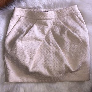 Forever 21 Professional Cream Mini Skirt